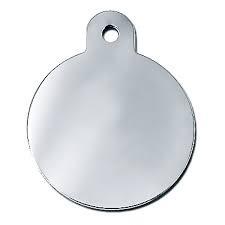 ID Brikke sirkel large - Sølv