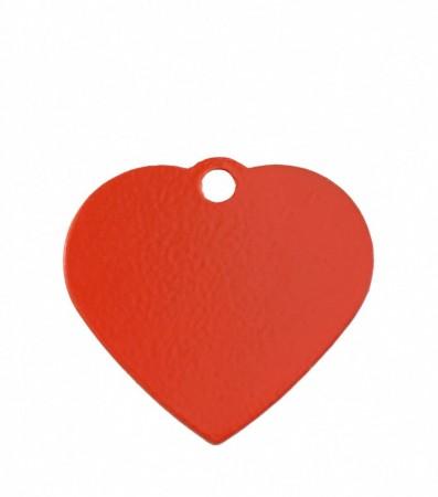 ID Brikke hjerte  small - Rødt