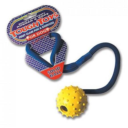 Gummi ball med tau - 5cm