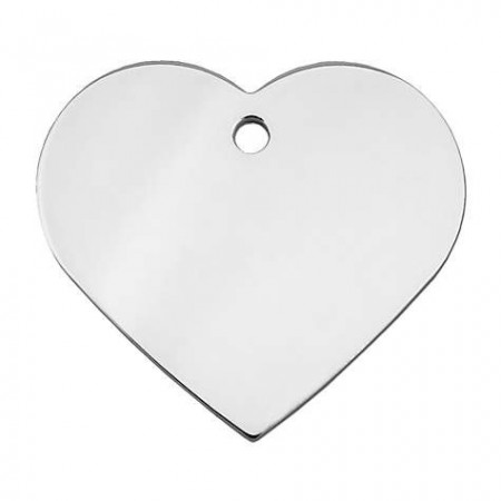 ID Brikke hjerte large - Sølv