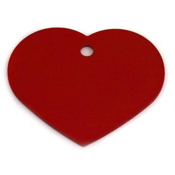 ID Brikke hjerte large - Rødt