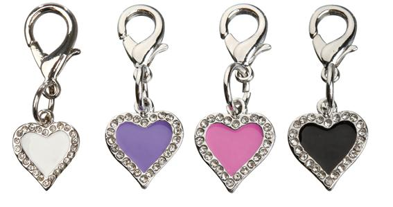 Charms Strass Hjerte