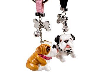 Bulldog - hvitt/sort