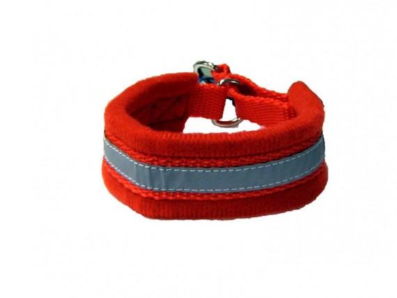 Nomehalsbånd fleece - rød